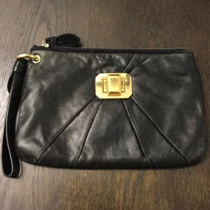 Juicy Couture Black Genuine Leather Wristlet